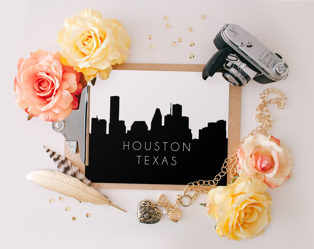 Houston Texas Skyline, Printable