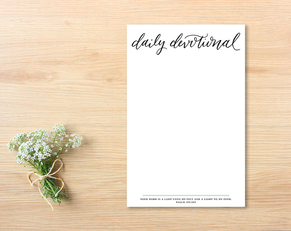 Daily Devotional Notepad