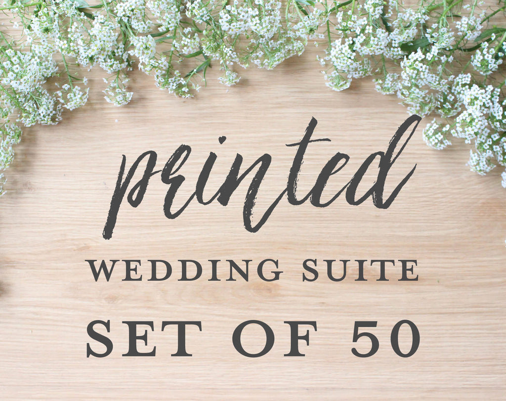 Printed Wedding Suite, Set of 50