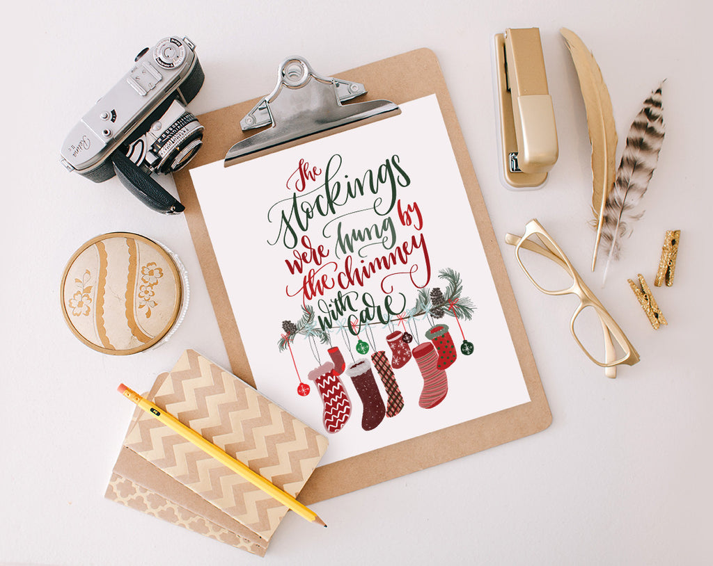 The stockings were hung, Printable