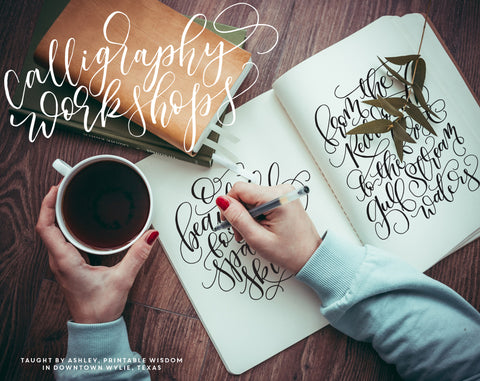Calligraphy Workshop Registration, Wylie, Texas