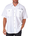 Columbia Men's Bahama II Short-Sleeve Shirt - White