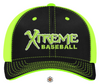 Xtreme Baseball - Players Hat - Neon Green/Black