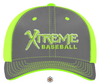 Xtreme Baseball - Players Hat - Neon Green/Grey