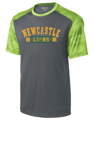 Short Sleeve Dry Fit Youth T-Shirt - Iron Grey & Lime Shock