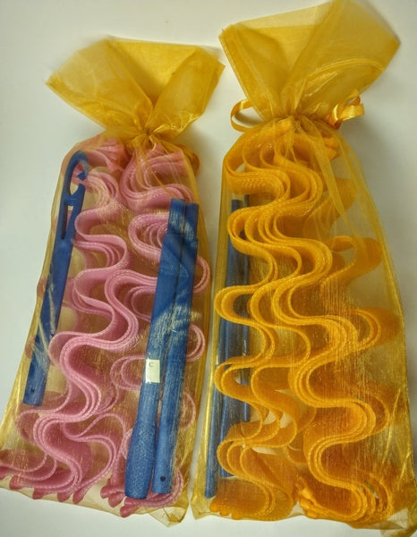 Rippling Wave Curlers in a gold organza bag