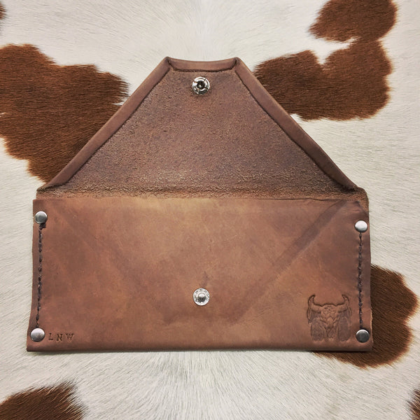 American Crafted Leather Long Wallet