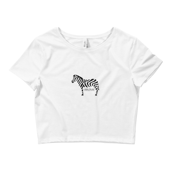 Women's Zebra Crop Tee
