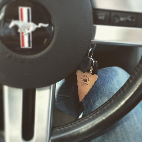American Crafted Leather Keychains