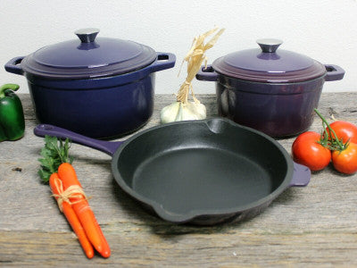 BergHOFF Chef Recipes Cast Iron Cookware Fry Pan Grill Pan Casserole Stockpot Sauce Pan Tajine Non-Stick