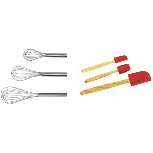 Studio 6Pc Baking Tool Set: 3Pc Stainless Steel Whisk & 3Pc Silicone Spatulas