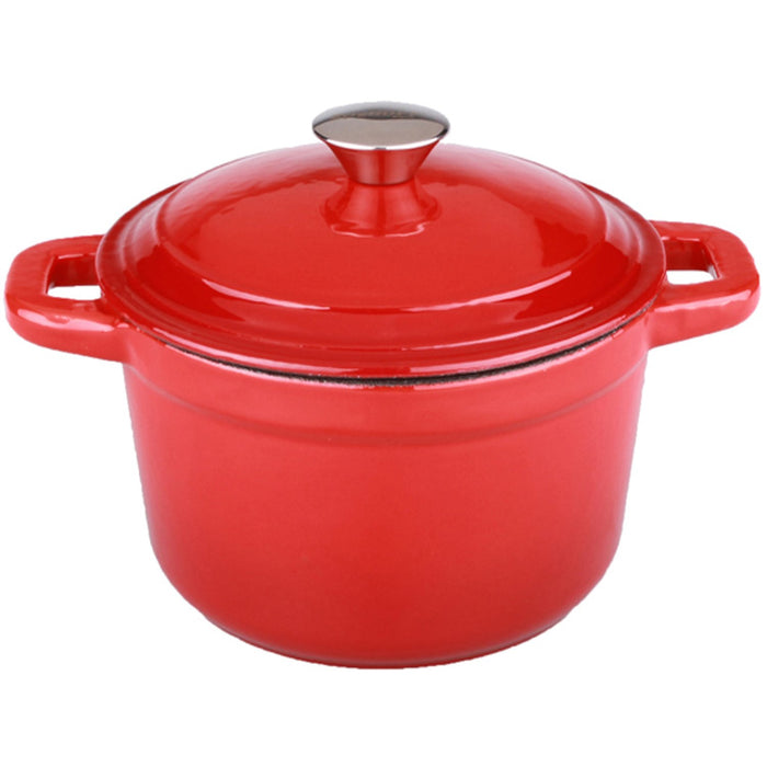 Neo 3Qt Cast Iron Round Covered Dutch Oven, Red