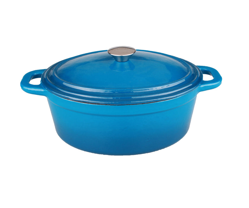 Neo 8Qt Cast Iron Covered Casserole Blue
