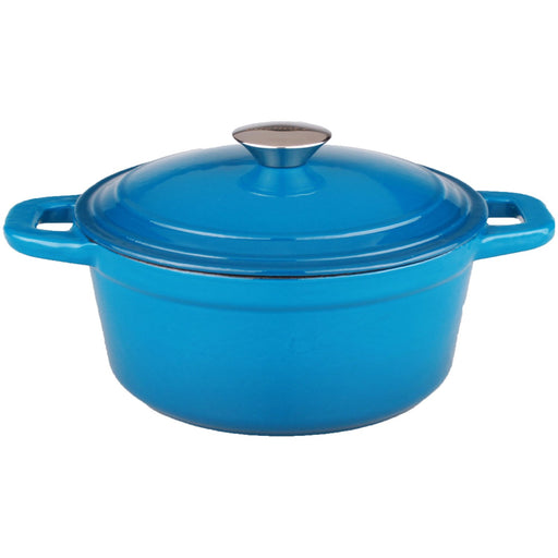Neo 3Qt Cast Iron Covered Dutch Oven, Blue