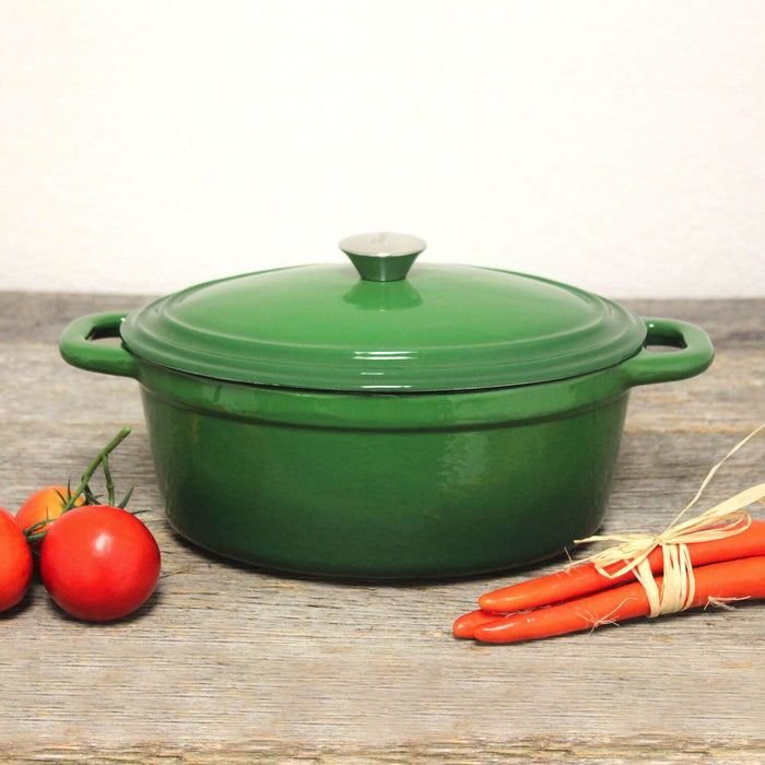 Neo 5 Qt Cast Iron Oval Covered Casserole, Green