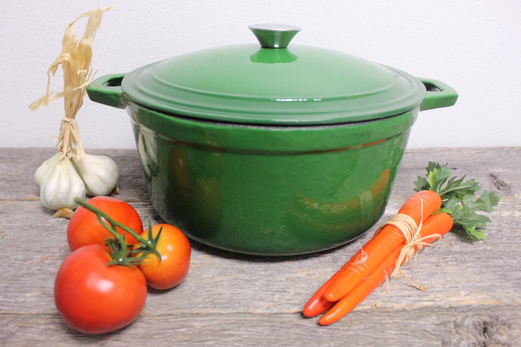 Neo 7Qt Cast Iron Round Covered Casserole, Green