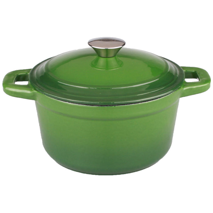 Neo 5Qt Cast Iron Round Covered Casserole, Green