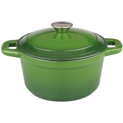 Neo 3Qt Cast Iron Round Covered Dutch Oven, Green
