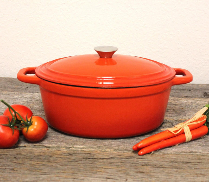 Neo 5Qt Cast Iron Oval Covered Casserole, Orange