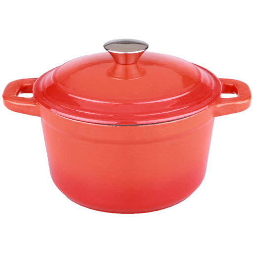Neo 3Qt Cast Iron Round Covered Dutch Oven, Orange