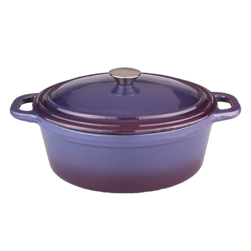 Neo 8Qt Cast Iron Oval Covered Casserole, Purple