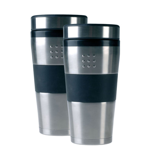 Orion 16oz Stainless Steel Travel Mug, Set of 2