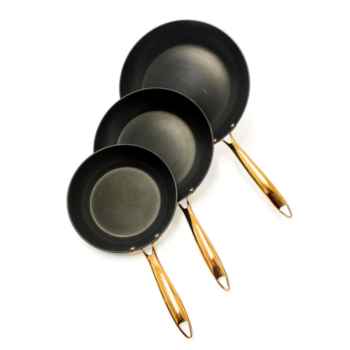 BergHOFF Ouro Black 3Pc Frypan Set