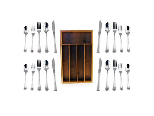 BergHOFF Flatware Service for 12 with Organizer