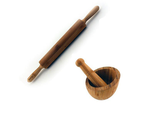 BergHOFF Bamboo Rolling Pin & Garlic Bowl 2pc