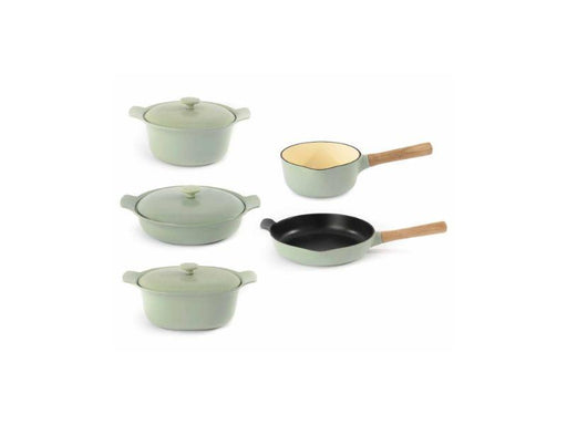 BergHOFF Ron 8pc Cast Iron Cookware Set, Green