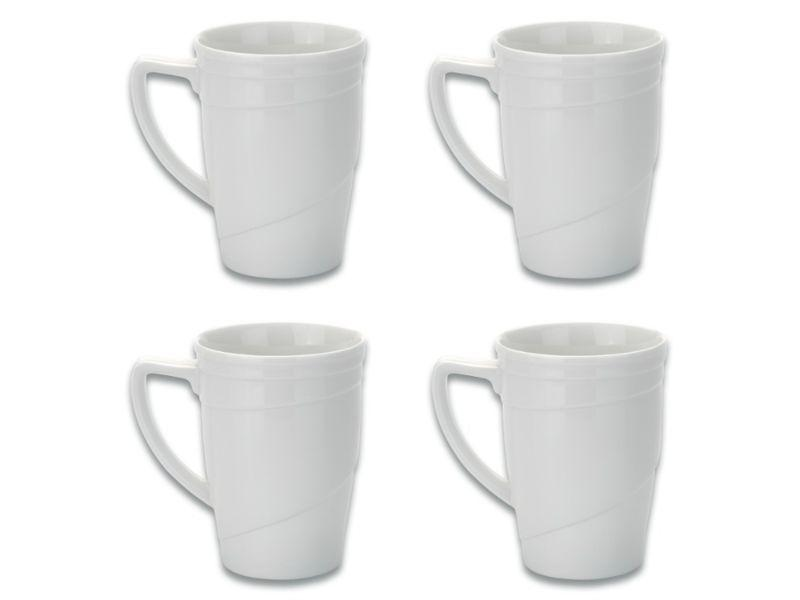 BergHOFF Essentials 12oz Porcelain Coffee Mugs, Set of 4