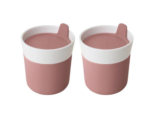 Leo 8.45oz Porcelain Travel Mug, Set of 2