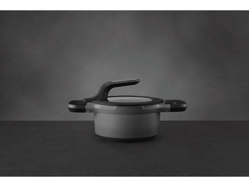 "BergHOFF GEM 6.25"" Non-Stick Covered Casserole, 1.6 Qt, Grey"