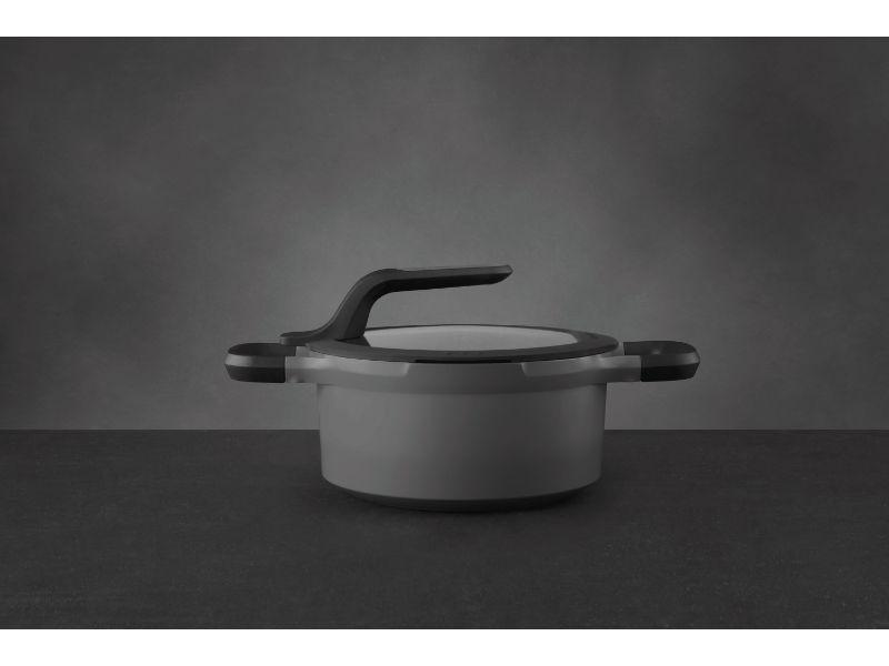 "BergHOFF GEM 8"" Non-Stick Covered Casserole, 3 Qt, Grey"