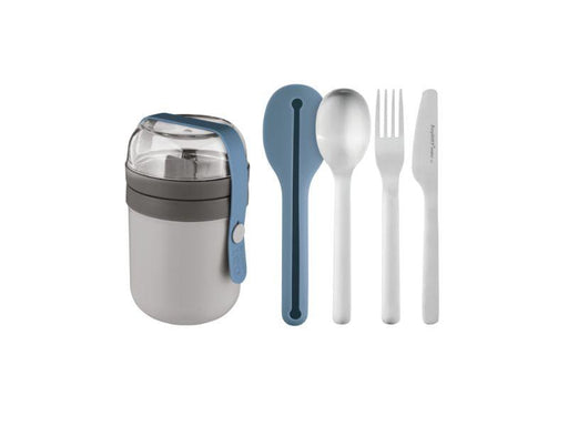 BergHOFF Leo To-Go Set, Grey and Blue