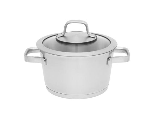 "Manhattan 8"" Stainless Steel Covered Casserole 3.2Qt"