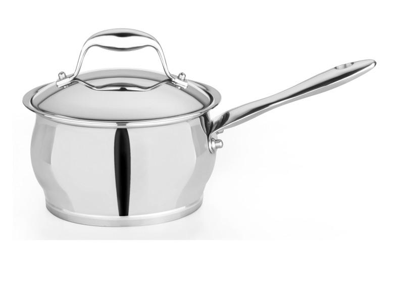 "Zeno 6.25"" Stainless Steel Covered Sauce Pan 2.1Qt"