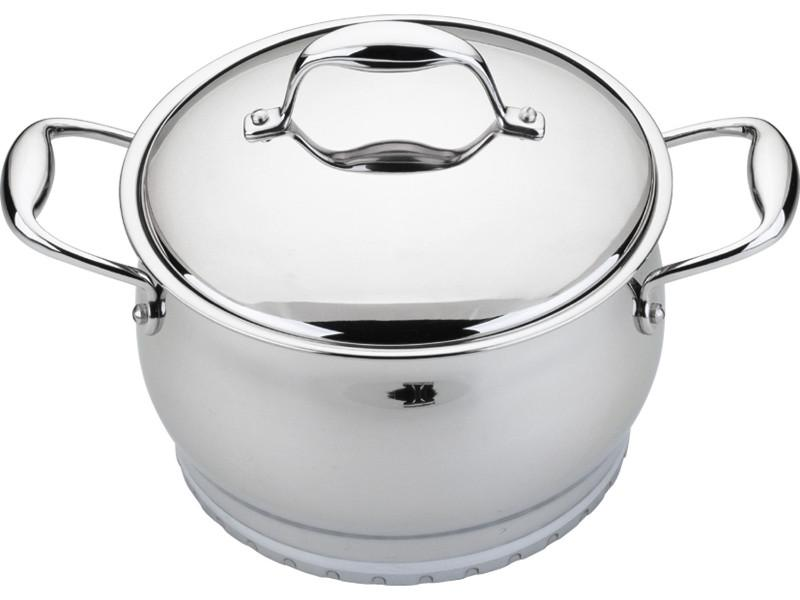 "Zeno 6.25"" Stainless Steel Covered Casserole 2.1Qt"