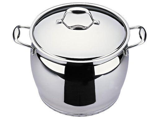 "Zeno 10.25"" Stainless Steel Covered Stockpot 10.6Qt"