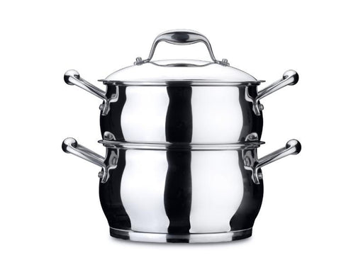 "Zeno 8"" Stainless Steel Covered Steamer 4.1Qt"