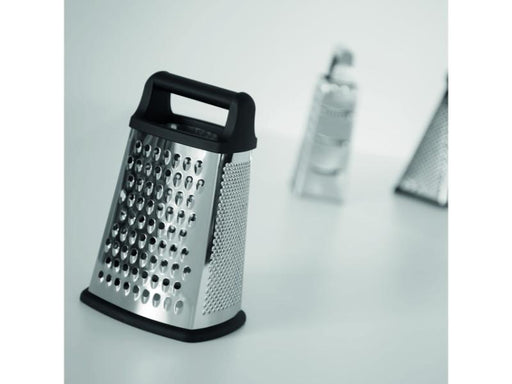 "Essentials 10"" Stainless Steel 4-Sided Grater with handle"