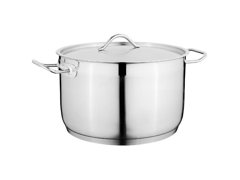 "7.8"" Stainless Steel Covered Casserole 3.9Qt"