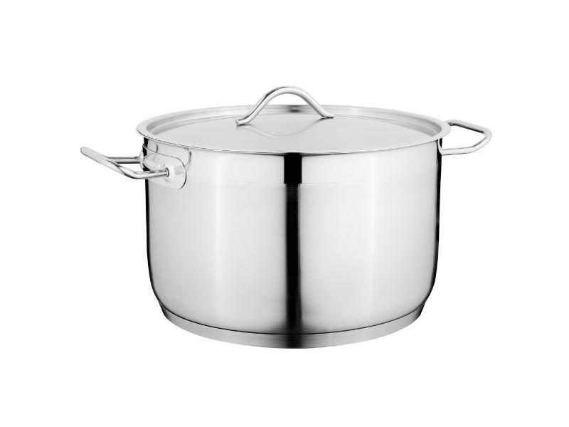 "9.5"" Stainless Steel Covered Casserole 6.4Qt"