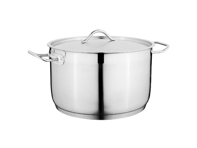 "11"" Stainless Steel Covered Casserole 11.6Qt"