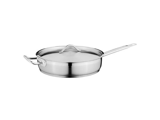 "11"" Stainless Steel Covered Deep Skillet 4.2Qt"