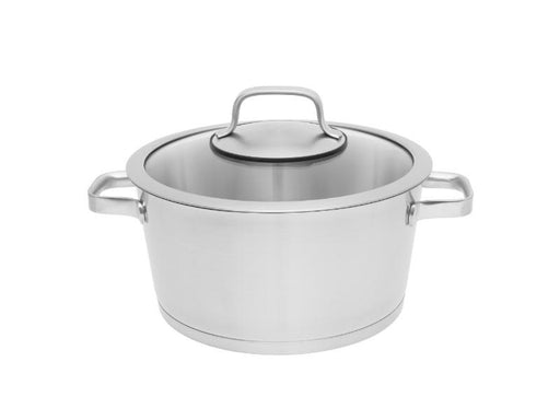 "Manhattan 9.5"" Stainless Steel Covered Stockpot 5.2Qt"