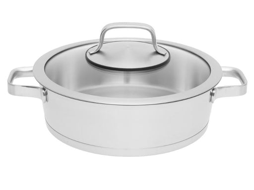"Manhattan 9.5"" Stainless Steel Covered Deep Skillet 3.2Qt"