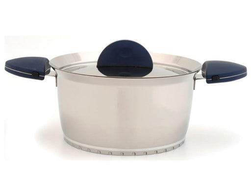 "Stacca 8"" Stainless Steel Covered Casserole, Blue"