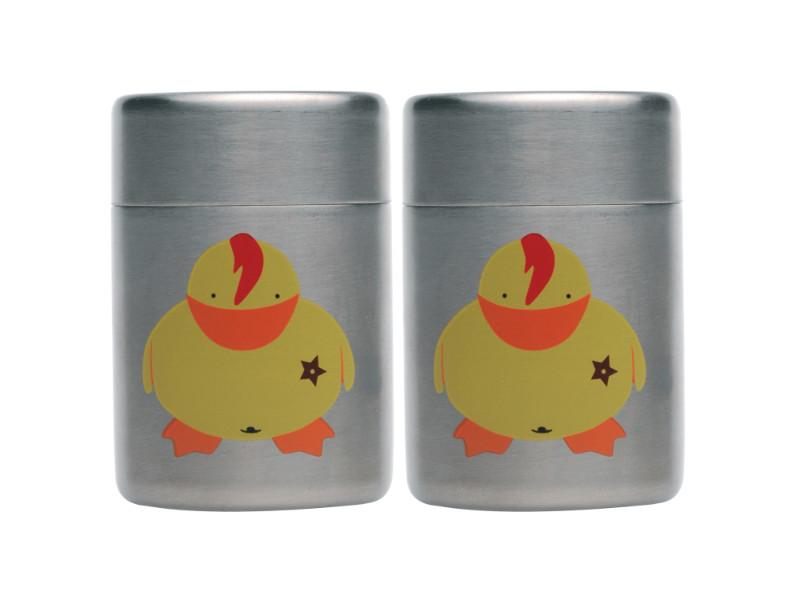 Sheriff Duck Children's 2Pc Stainless Steel Salt & Pepper