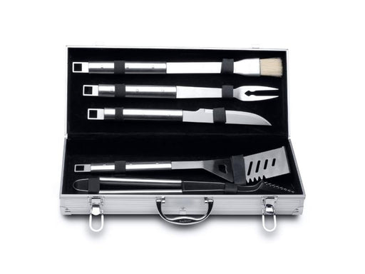 Cubo 6Pc Stainless Steel BBQ Set with Case